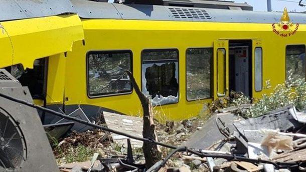Авария с поездами в Италии