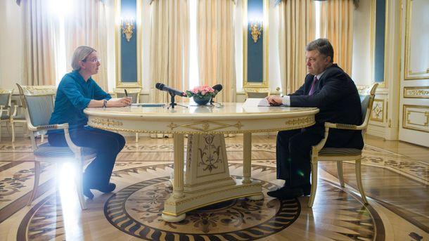 Уляна Супрун і Петро Порошенко