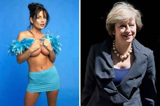 Слева порноактриса Тереза Мэй, справа – будущий премьер Тереза Мэй