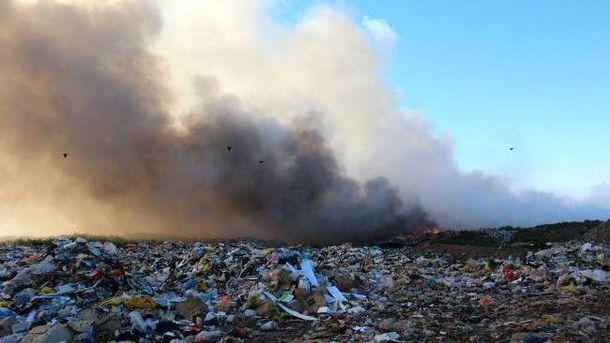 Пожежа на Трипільському сміттєзвалищі