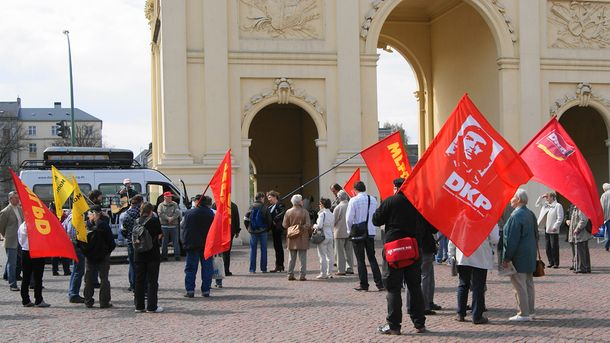 Мітинг німецьких комуністів
