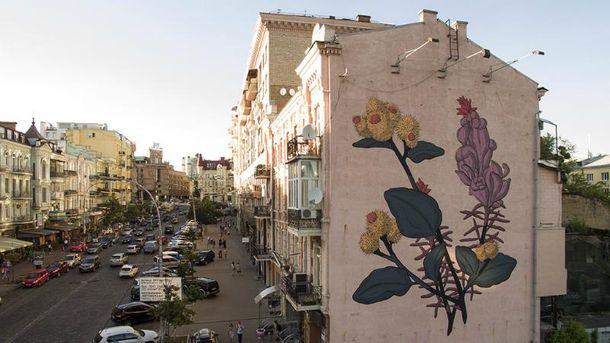 Мурал на улице Большой Васильковской, 33