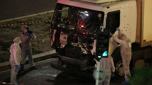 Грузовик террориста в Ницце