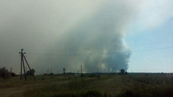 Пожар на Гончаровском военном полигоне