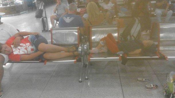 Украинцы в аэропорту Бургас