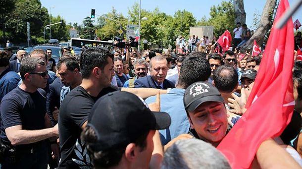 Реджеп Тайип Эрдоган в Стамбуле