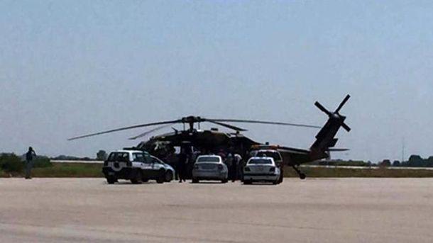 Турецкий военный вертолет в Турции