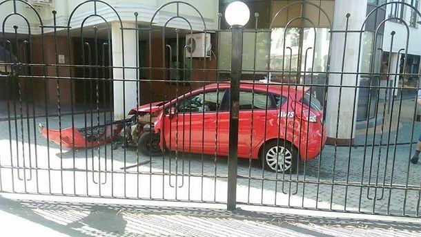 Американец попал в аварию в Харькове