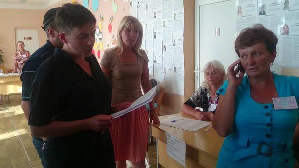 Надія Савченко заявляє про махінації на виборах на Луганщині