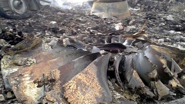 На месте катастрофы Boeing777