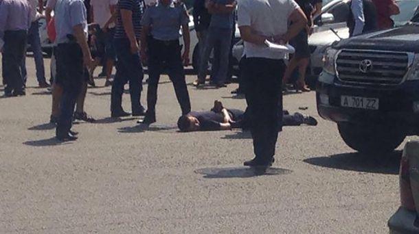 Задержание участника стрельбы в Алматы
