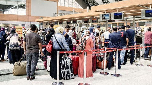 Очереди в аэропорту Стамбула