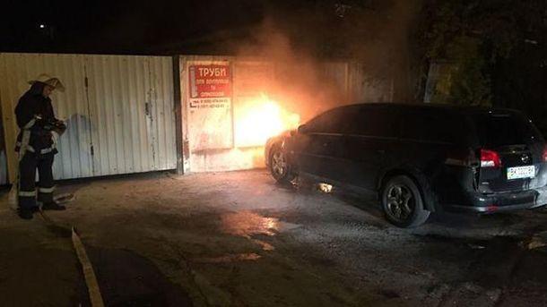 У Рівному спалили авто журналіста