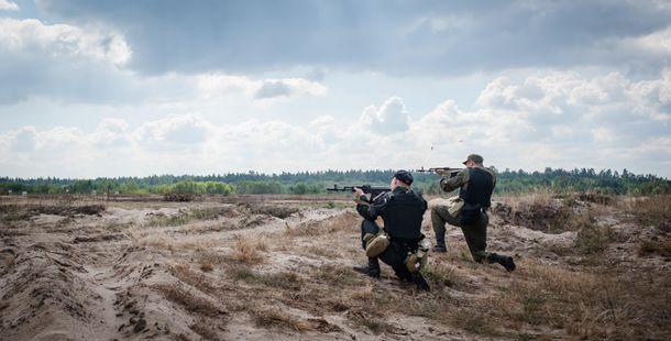 Учения добровольческого батальона