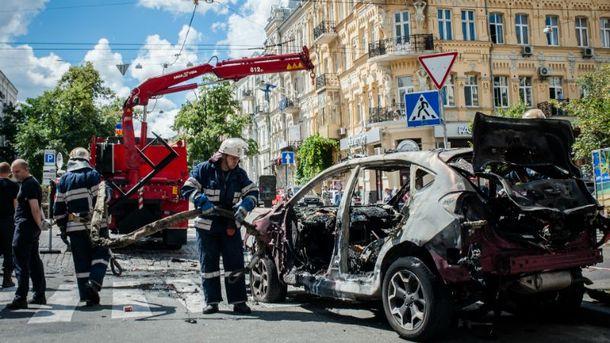 У Києві вибухнув автомобіль Павла Шеремета
