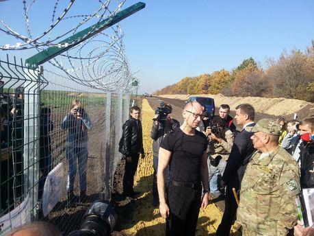 Арсеній Яценюк на перевірці проекту