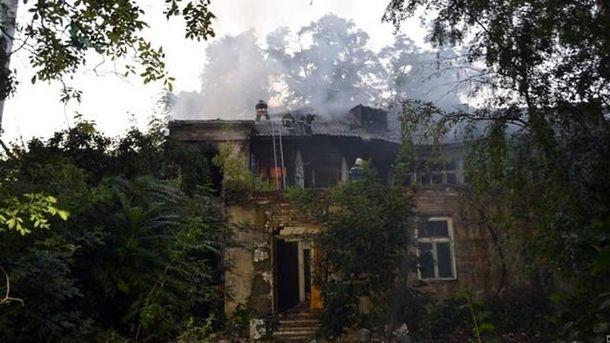 Пожар произошел в Одессе