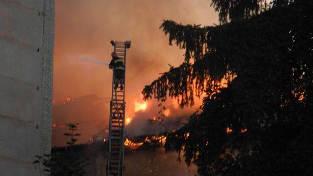 Масштабный пожар в Ходорове