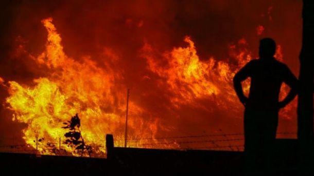 Пожар возле базы НАТО
