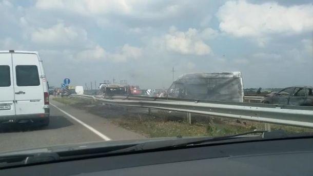 Масштабная авария на Кировоградщине