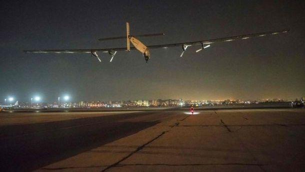 Виліт Solar Impulse з аеропорту Каїра