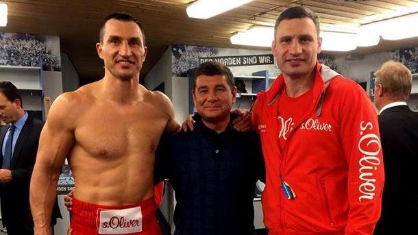 Александр Онищенко с братьями Кличко