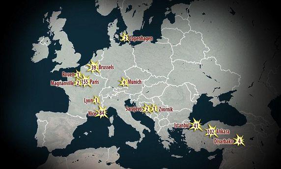 Карта тероризму