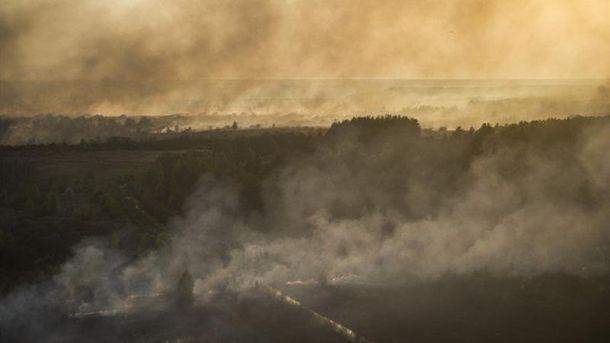 Пожар в Чернобыле. Иллюстрация