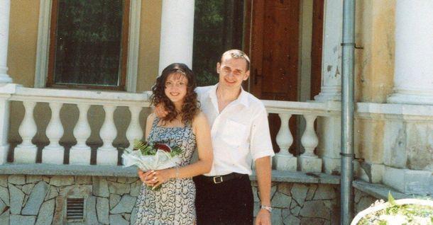 Олег Сенцов з дружиною Аллою