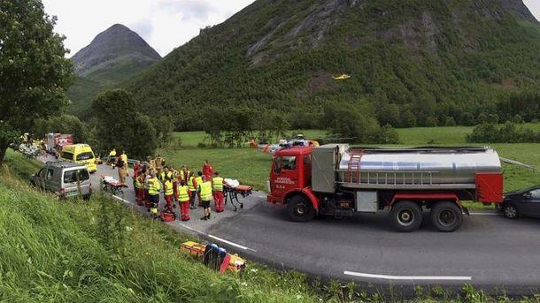 Авария с украинцами в Норвегии