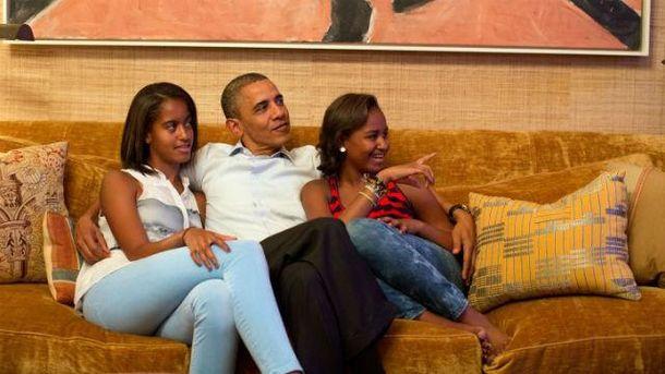 Обама з доньками