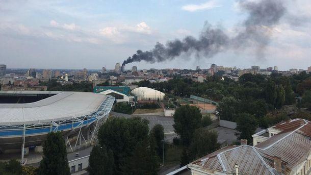Пожежа у центрі Дніпра
