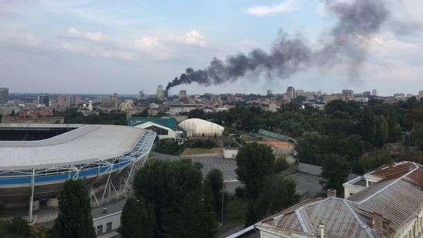 Пожар в центре Днепра