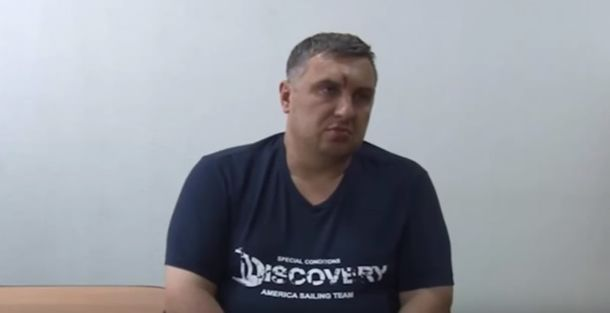 Евгений Панов во время допроса
