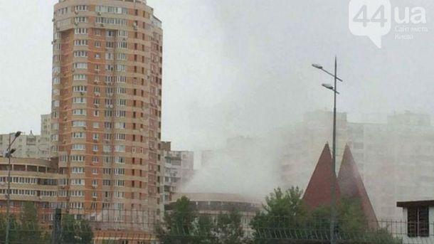 После взрыва случился пожар