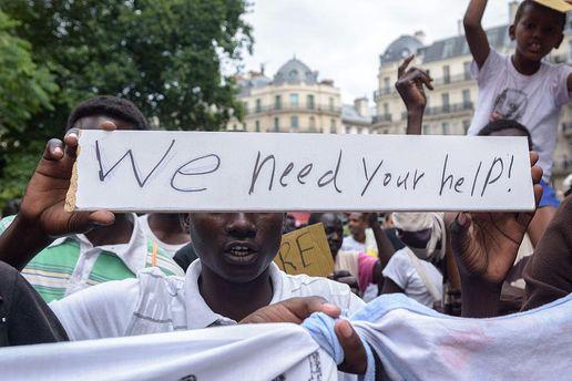 Митинг беженцев