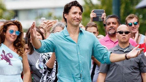 Прем'єр-міністр Канади Джастін Трюдо на марші рівності