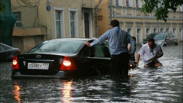 Москву серйозно затопило