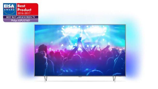 """PHILIPS отримав відзнаку EISA """"Краща Покупка ТВ з великим екраном 2016-2017 у Європі"""""""
