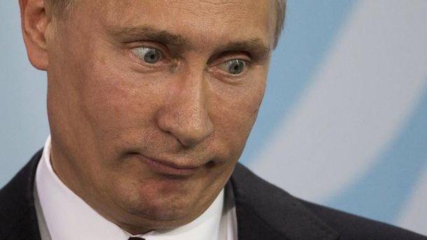 Маниакальный взгляд Путина