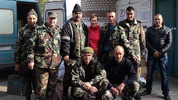 Юлия Шаповалова среди воинов АТО
