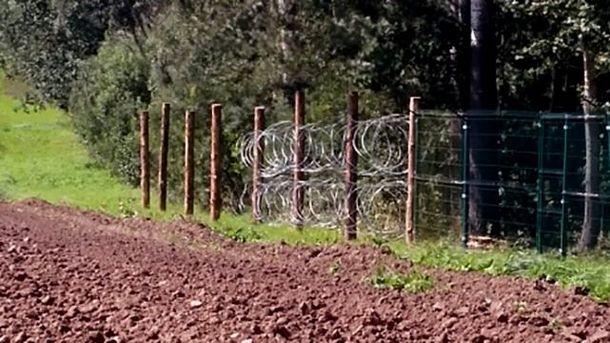 Забор на границе России с Польшей