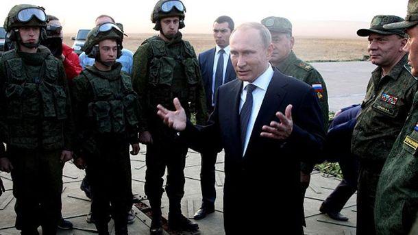 Владимир Путин и его солдаты