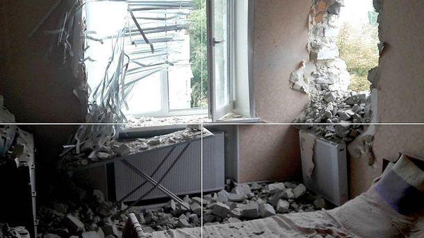 Последствия обстрела в Марьинке
