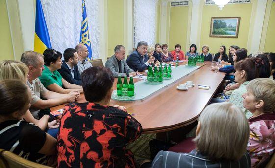 Президент пообіцяв сприяти якнайшвидшому звільненню українців