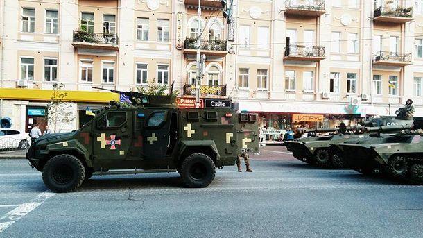 В Киеве прошла репетиция парада ко Дню Независимости