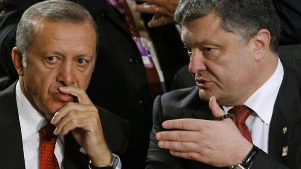 Петро Порошенко і  Реджеп Ердоган