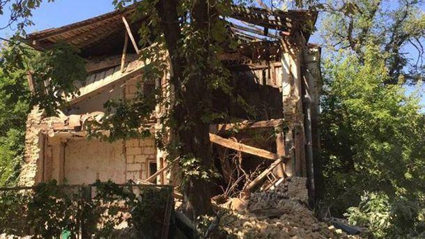 Дом рухнул в Киеве