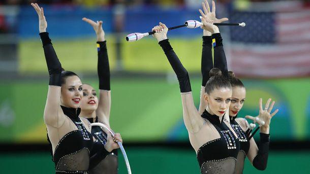 Украинская команда по художественной гимнастике