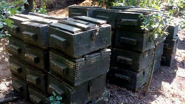 Ящики со взрывчаткой